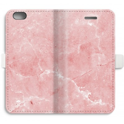 iphone-6-6s-full-print-flip-case - Pink Marble