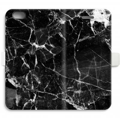 iphone-6-6s-full-print-flip-case - Black Marble 2