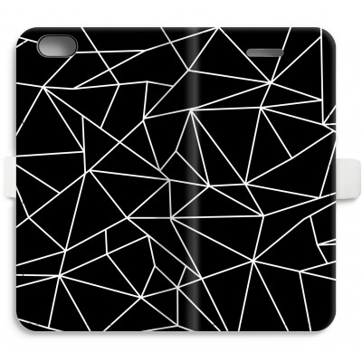 iphone-6-6s-full-print-flip-case - Geometric lines white