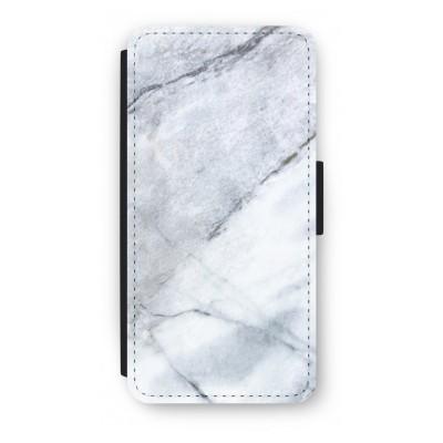 iphone-7-flip-hoesje - Witte marmer