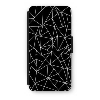 iphone-7-flip-hoesje - Geometrische lijnen wit