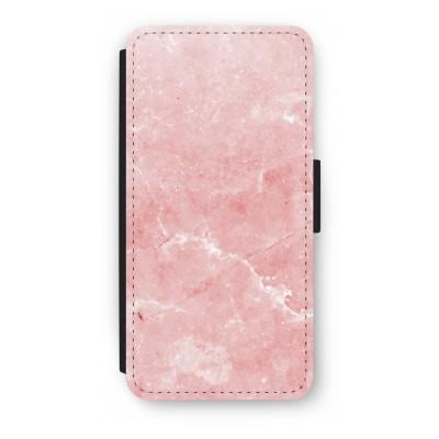 iphone-7-flip-hoesje - Roze marmer