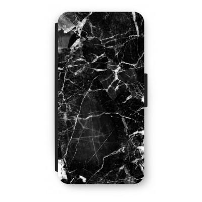 iphone-7-flip-hoesje - Zwart Marmer 2