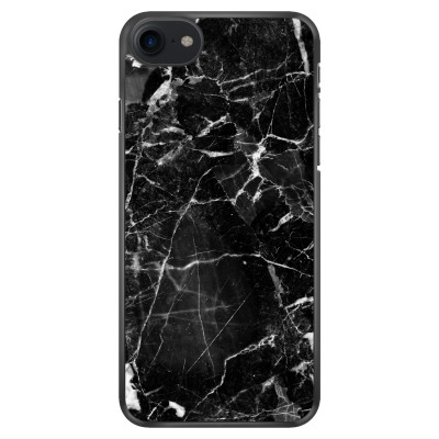 iphone-7-soft-cover - Zwart Marmer 2