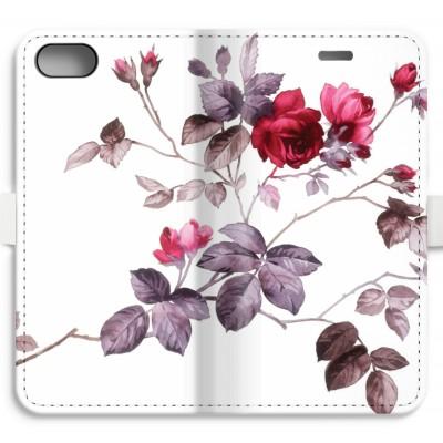 iphone-7-volledig-geprint-flip-hoesje - Mooie bloemen