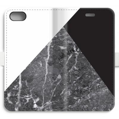iphone-7-volledig-geprint-flip-hoesje - Combinatie marmer