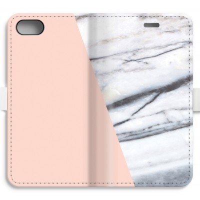 iphone-7-volledig-geprint-flip-hoesje - A touch of peach