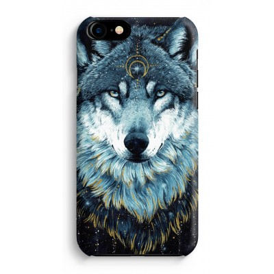 iphone-7-hoesje-rondom-geprint - Darkness Wolf