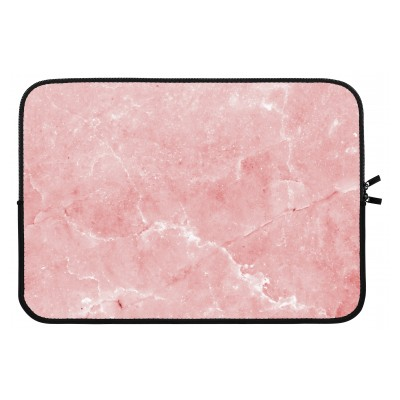 laptop-sleeve-13-inch - Roze marmer