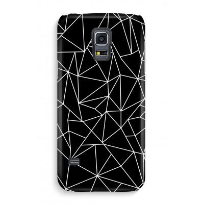 samsung-s5-hoesje-volledig-geprint - Geometrische lijnen wit