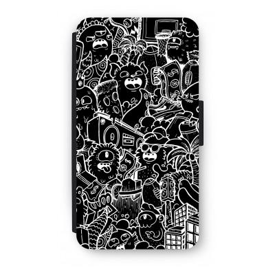 samsung-s5-mini-flip-hoesje - Vexx Black City