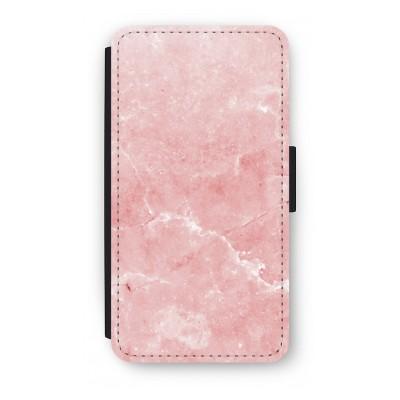 samsung-s5-mini-flip-hoesje - Roze marmer