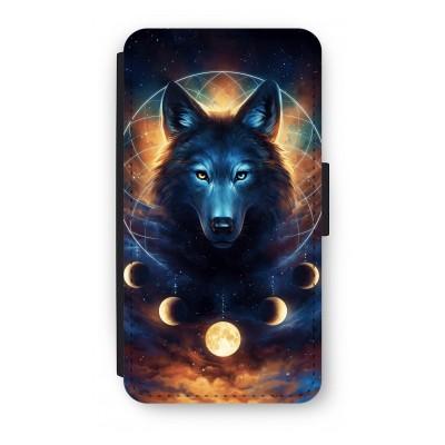 samsung-s5-mini-flip-hoesje - Wolf Dreamcatcher