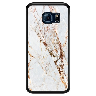 samsung-galaxy-s6-edge-case - Gold Marble