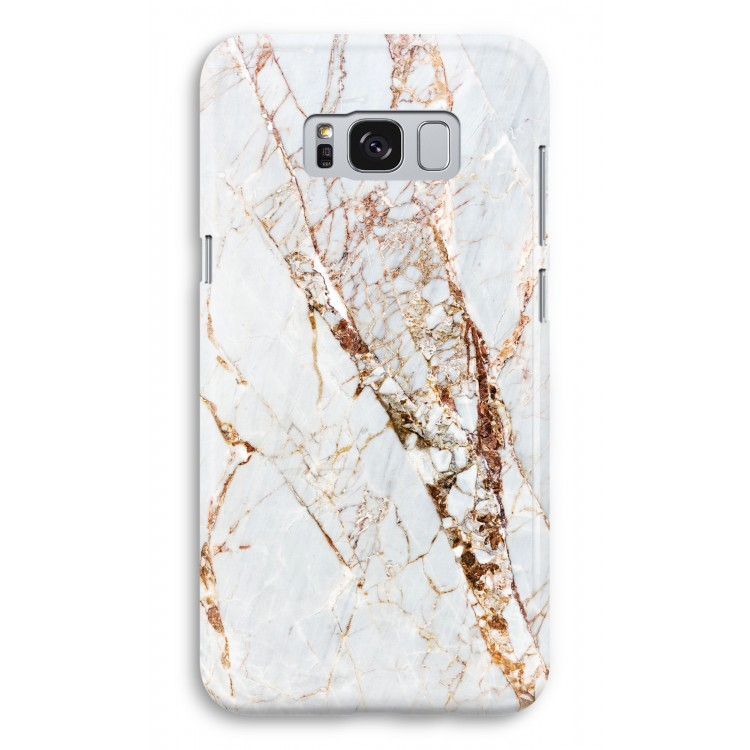 Guld marmor. Samsung Galaxy S8 Plus Heltryckt Fodral ... 978ad99b1bf2f
