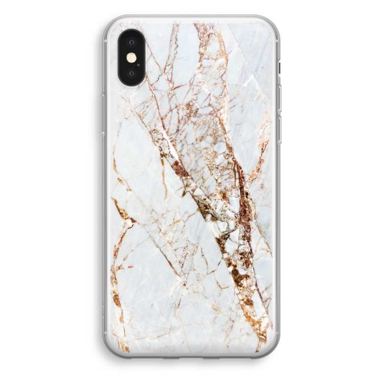Guld marmor. iPhone X Transparent Fodral ... 2a37d4f887585