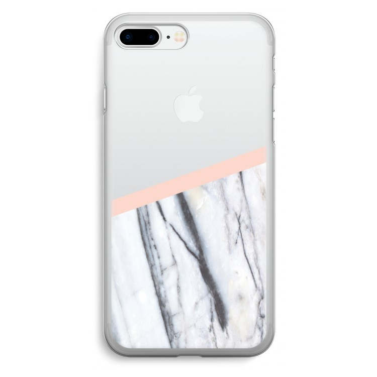 En touch av persika. iPhone 7 Plus Transparent Fodral ... 6fa410ab24a12