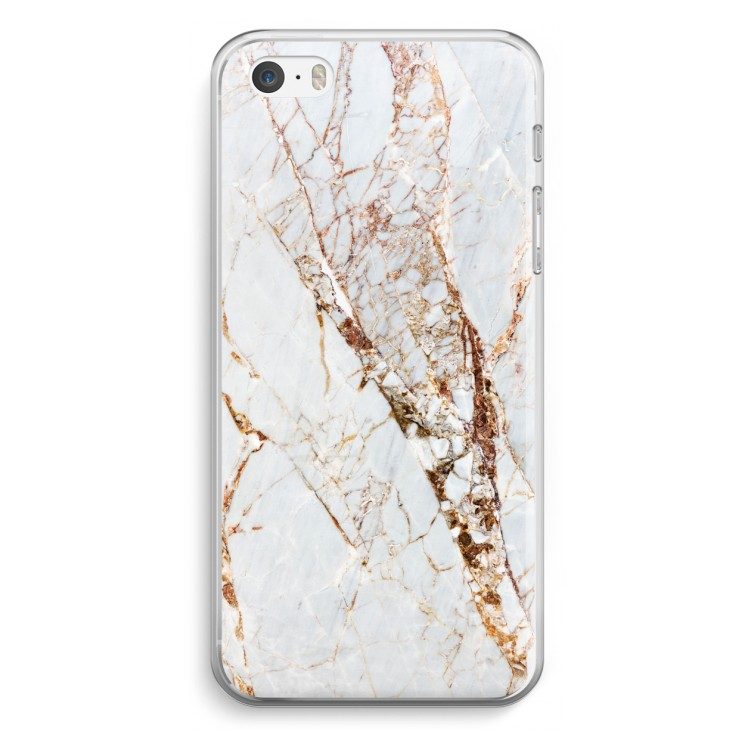 Guld marmor. iPhone 5   5S   SE Transparent Fodral ... 56d1c3a84bc2f